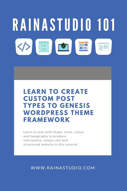 learn to Create Custom Post Types to Genesis WordPress Theme Framework