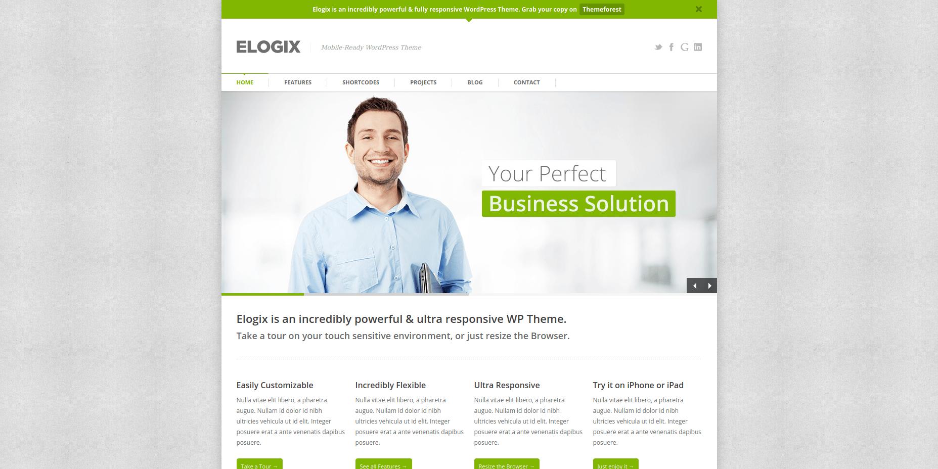 ELOGIX - Best WordPress Business Themes