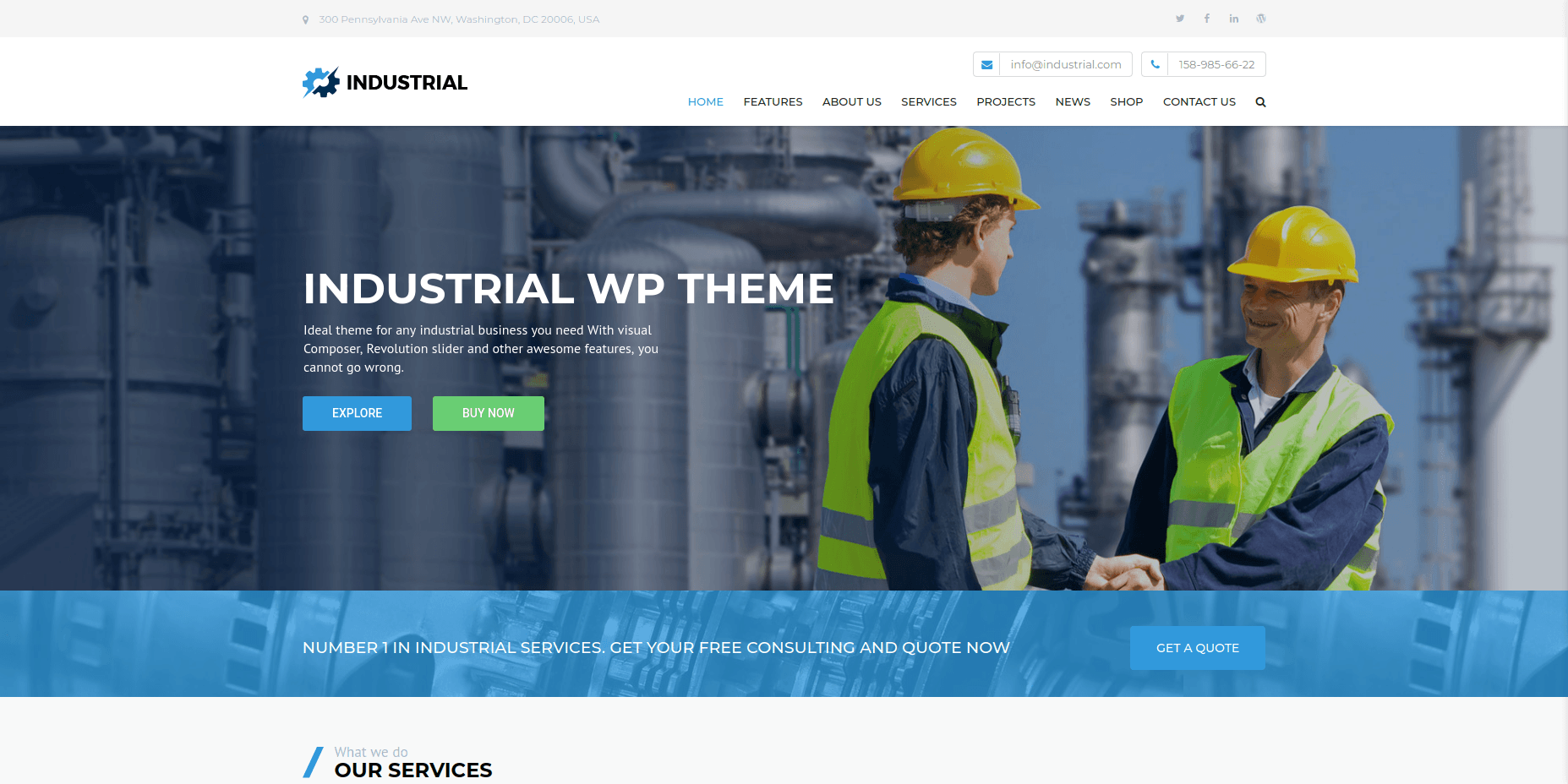 Industrial - WordPress Business Themes