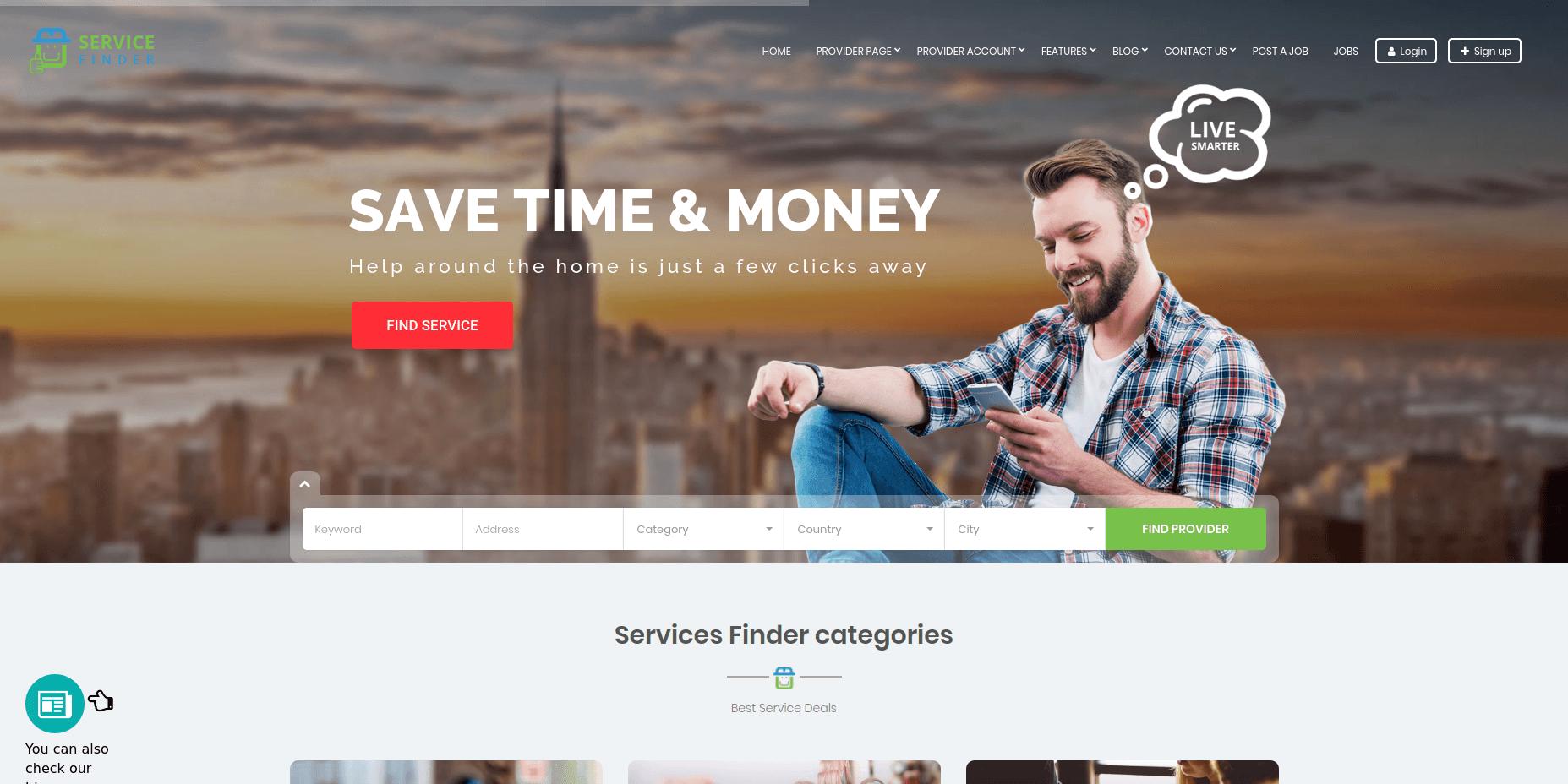 Service Finder - Best WordPress Business Themes