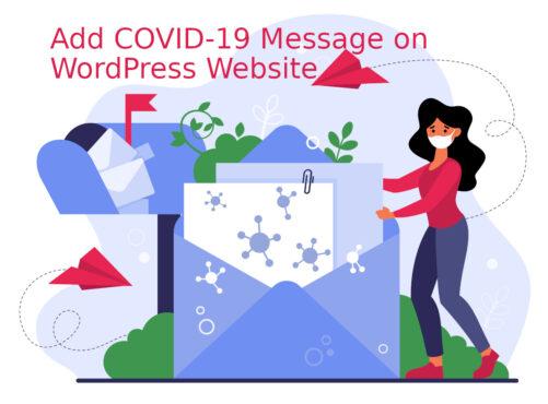 How to Add COVID-19 Message on WordPress Website Built on Genesis Framework