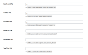 Sticky Genesis Topbar Pro Social Media URLs Options — WordPress