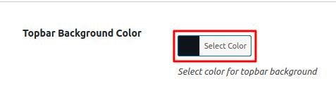 Topbar Background Color Option