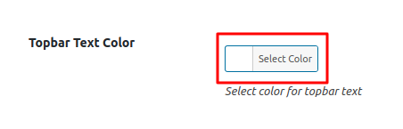 Topbar Text Color Option