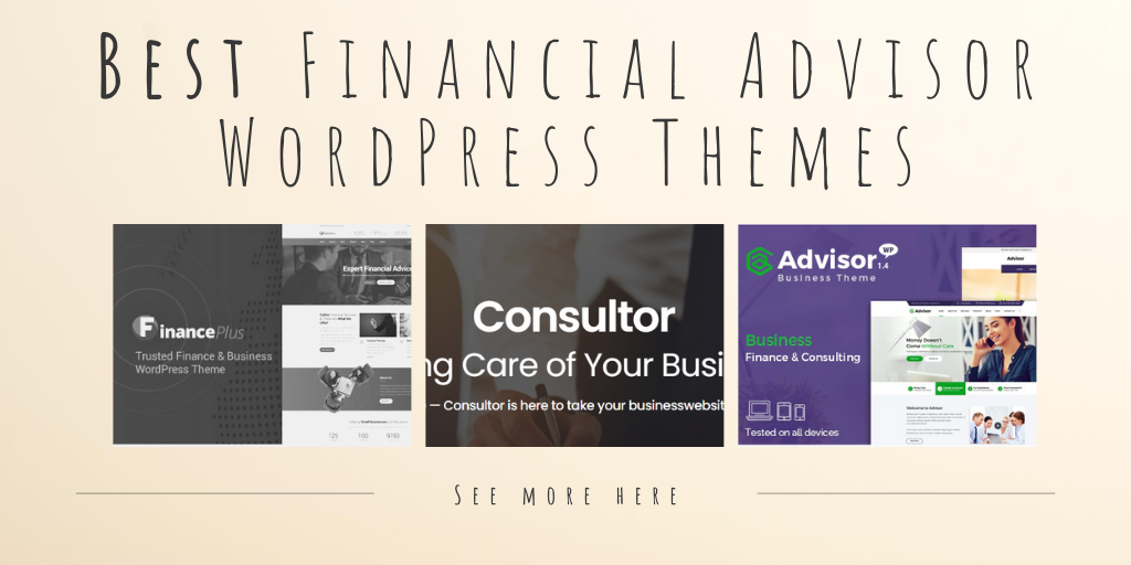 Best financial advisor wp themes