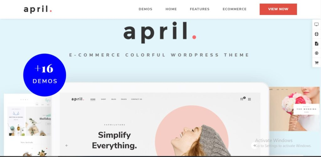 APRIL - Fashion WooCommerce WordPress Theme