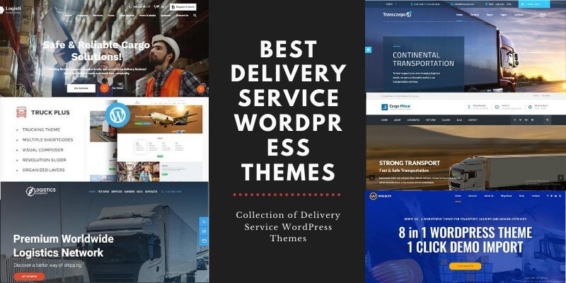 Best Delivery Service WordPress Themes