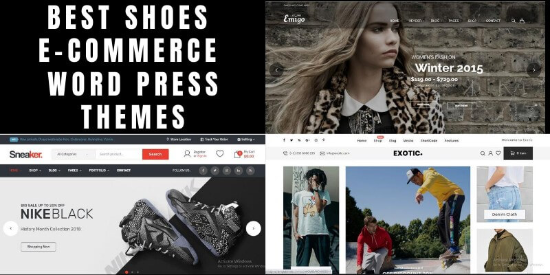 Best Shoes eCommerce WordPress Themes