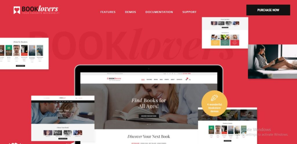 Book lovers - Publishing House & Book Store WordPress Theme + RTL