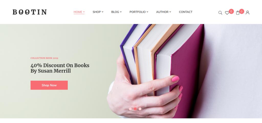 Bootin – Book Store WooCommerce WordPress Theme