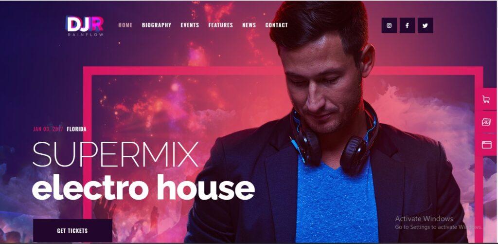 DJ Rain flow - A Music Band & Musician WordPress Theme