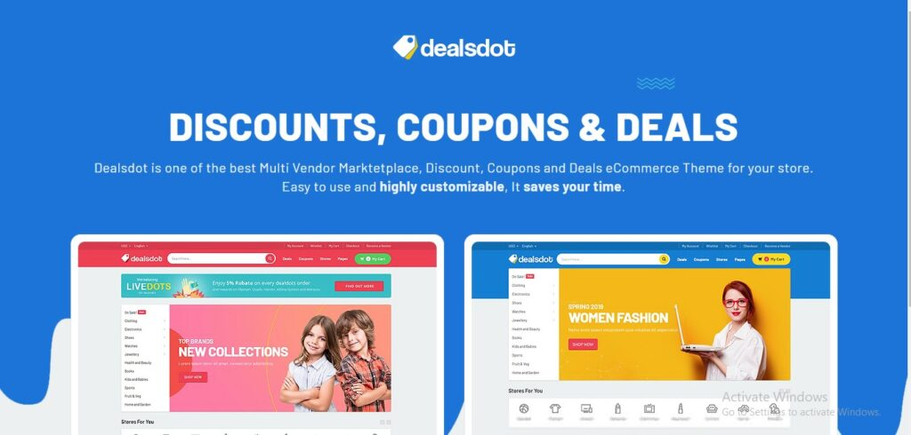 Deals dot - Multi-Vendor Marketplace Theme