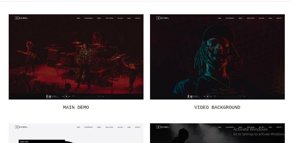 Dezibel - Music Band & Musician WordPress Theme