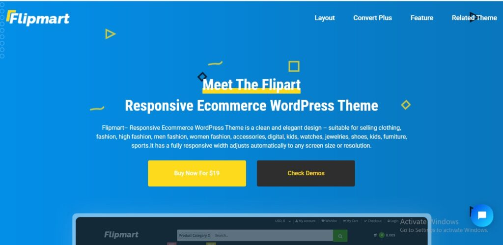 Flip mart - Responsive Ecommerce WordPress