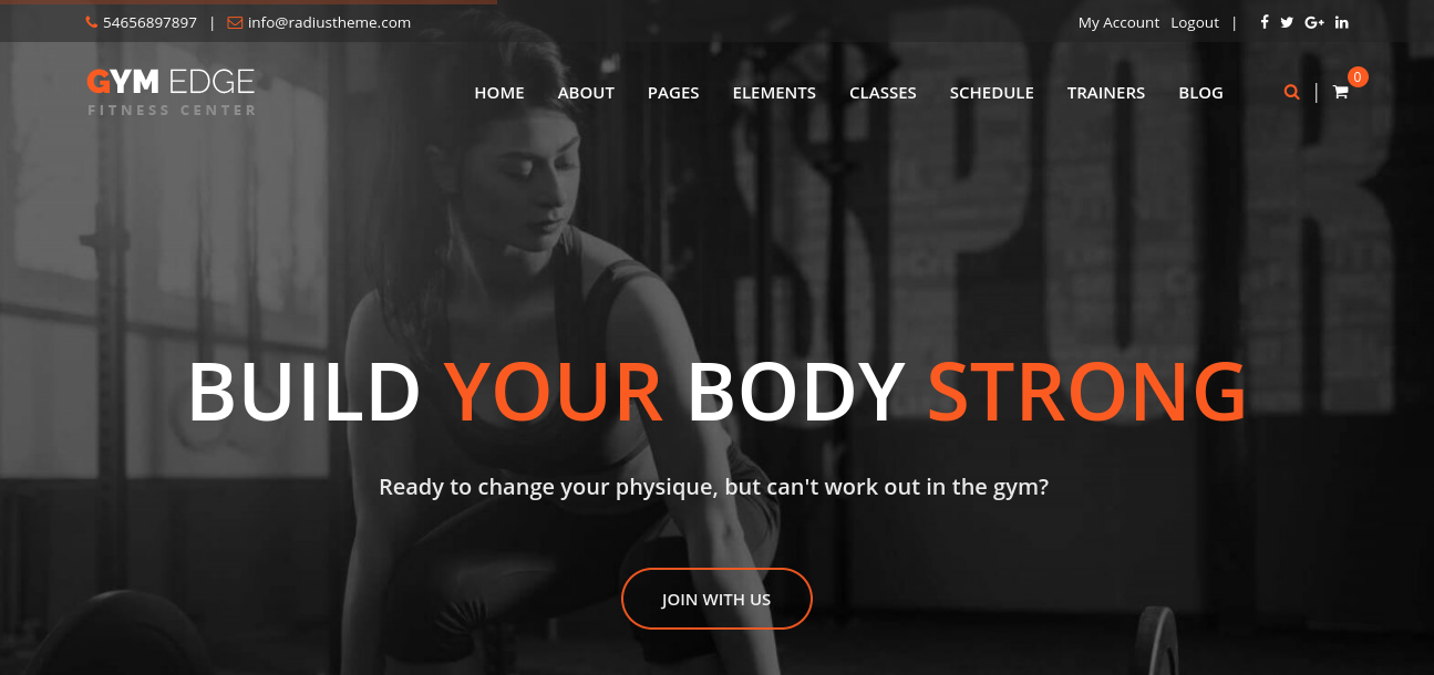Gym Edge – Fitness WordPress Theme