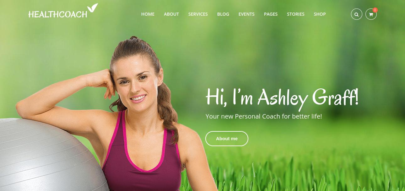 Health coach – Personal Trainer WordPress Theme