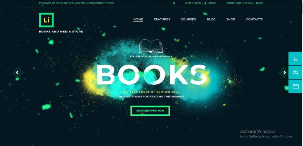 Lorem Ipsum - Books & Media Store WordPress Theme