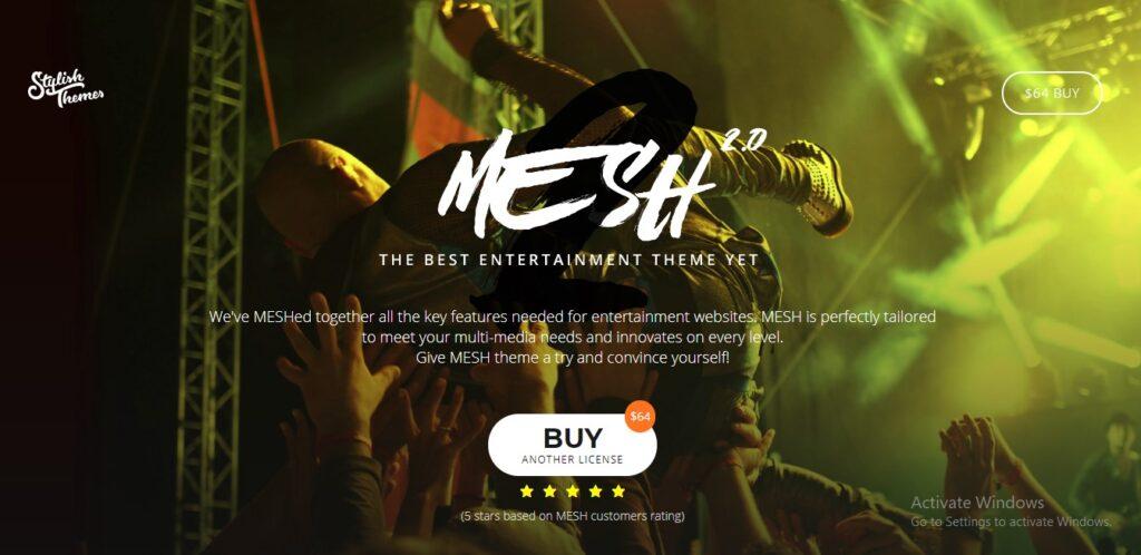 MESH - Music, Band, Musician, Event, Club Theme