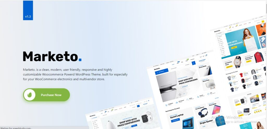 Marketo - Multi vendor Marketplace and e-commerce Woo-commerce WordPress Theme