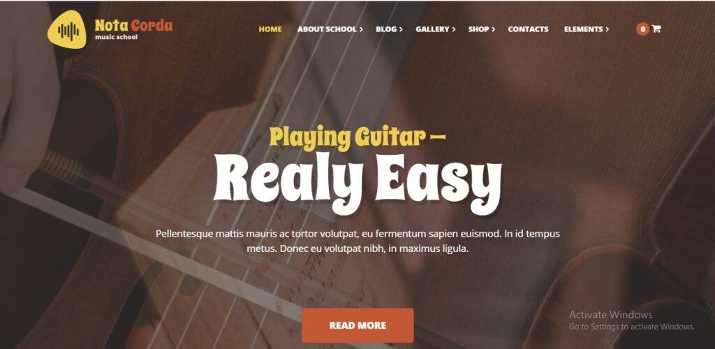 Nota Corda - Music School and Musicians WordPress Theme