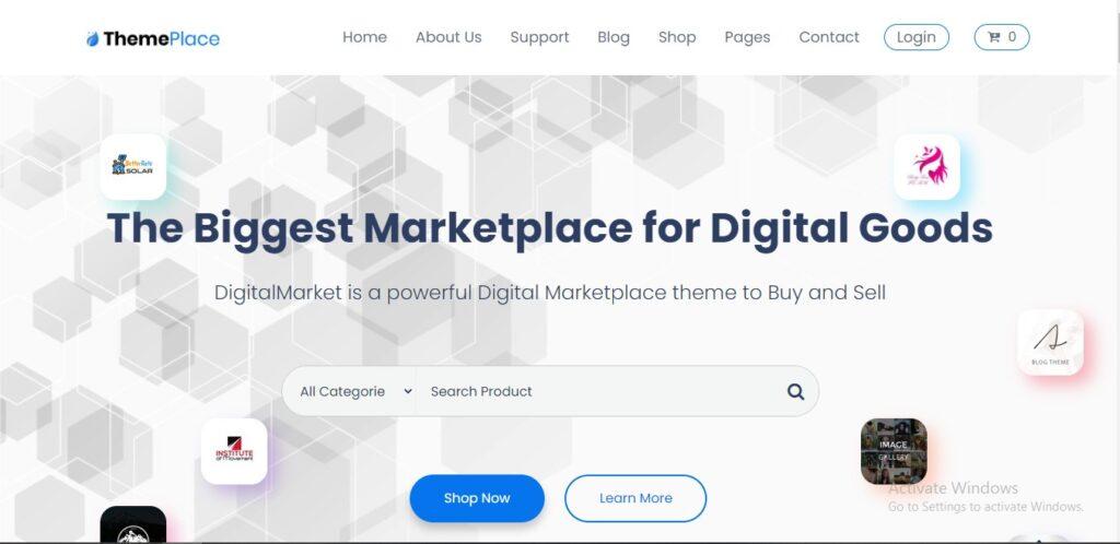 Theme Place - Marketplace WordPress Theme