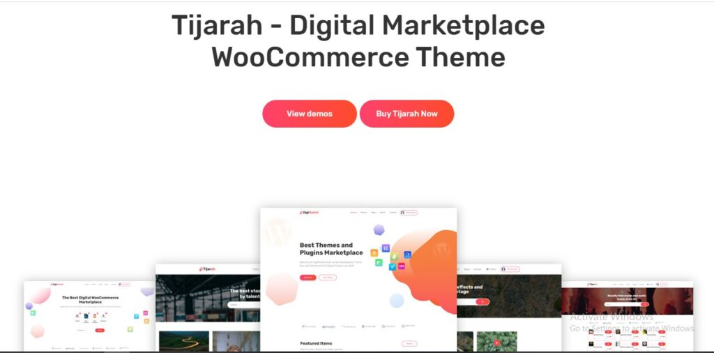 Tijarah - Digital Marketplace Woo Commerce Theme