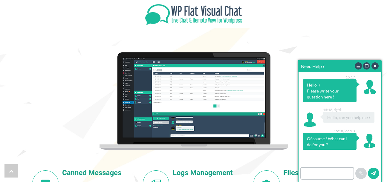 WP Flat Visual Chat - Live Chat Remote View