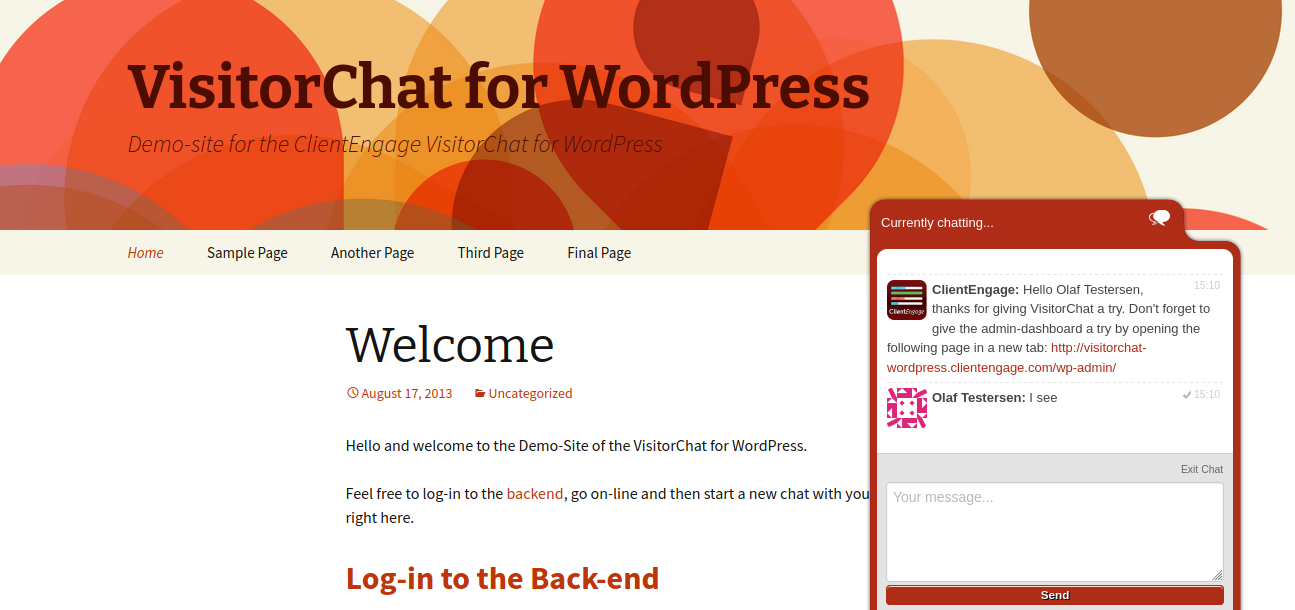 WordPress Live Chat With Web Windows Clients