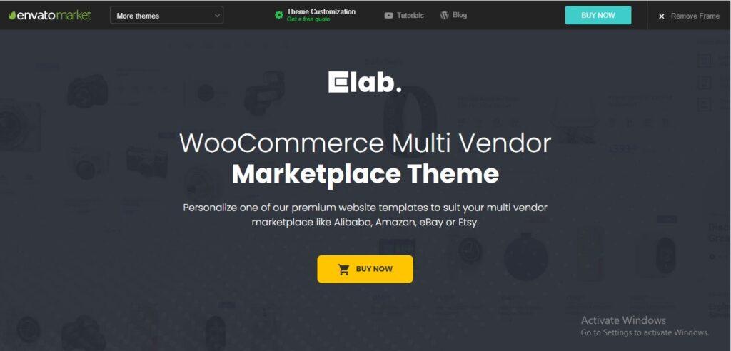 eLab - Woo Commerce Marketplace WordPress Theme
