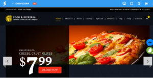 food and pizzeria theme