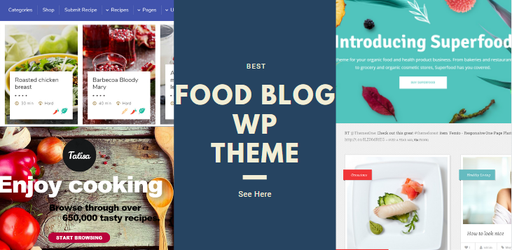 food blog wp theme