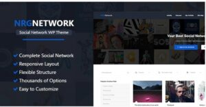 NRG Network - Responsive Social Network WordPress Theme
