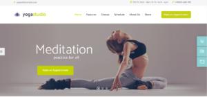 yoga studio theme