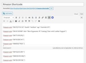 Rmazon Widget Shortcode ‹ RainaStudio — WordPress
