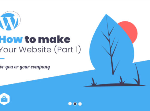 How to make a website for you or your company or business