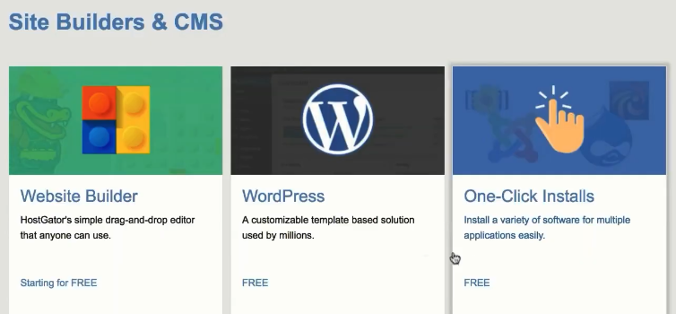 Site builder and cms