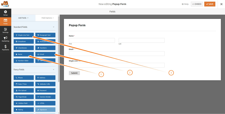 Add Fields to the Form