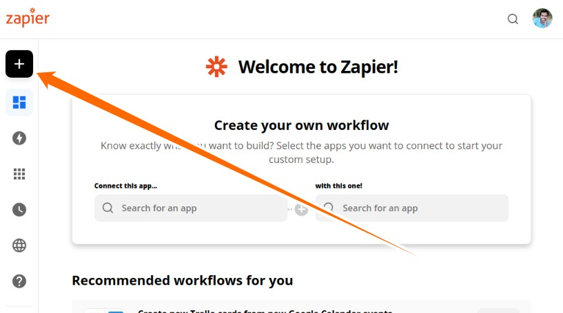 Click on Make a Zap Button.jpeg