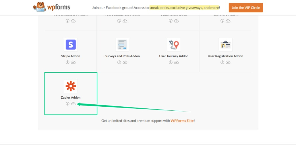 Download and Install the Zapier Addon As Well