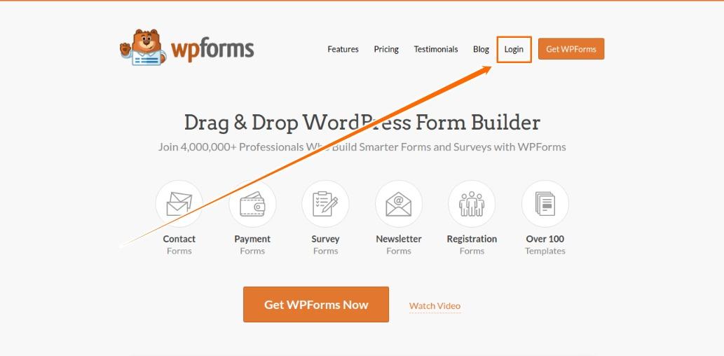 Login to WPForms Account