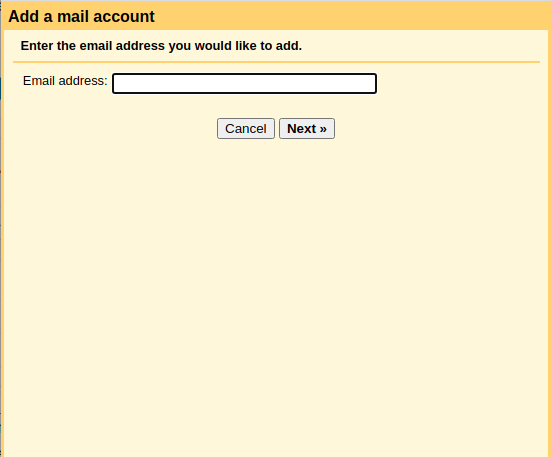 Add Email Address to Check Email Option