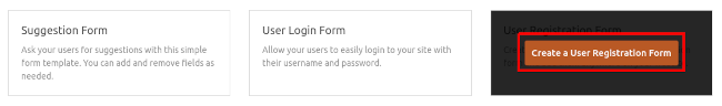 Create a User Registration Form