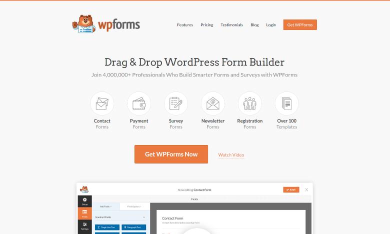 Screenshot of WPForms
