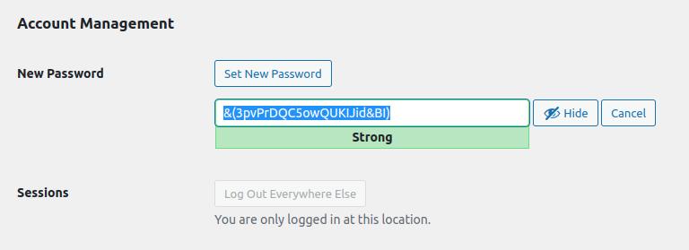 Set New WordPress Password