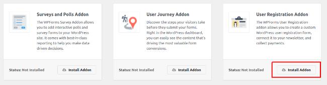 User Registration Addon