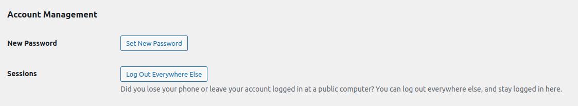 WordPress User Account Management