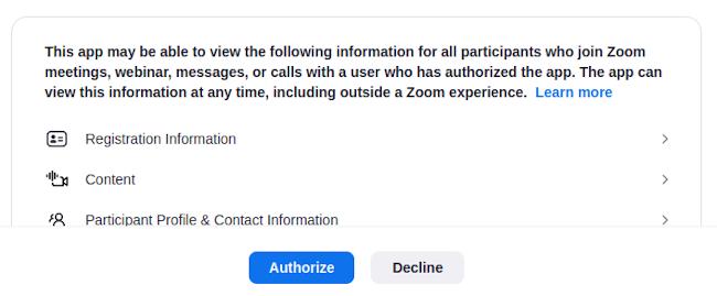 Authorize Zapier