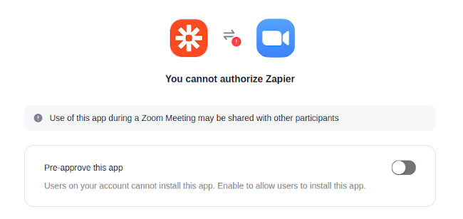 Pre Approve Zoom App